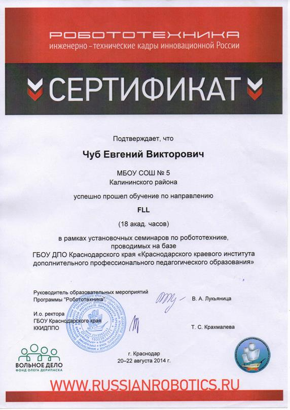Курсы повышения квалификации по направлению FLL - 0001 для сайта